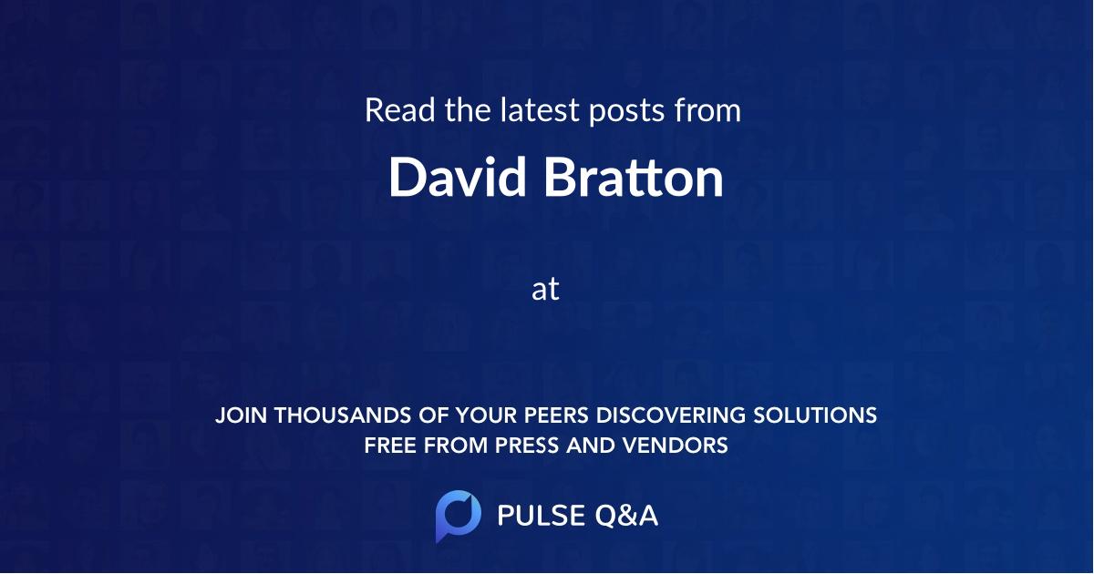 David Bratton
