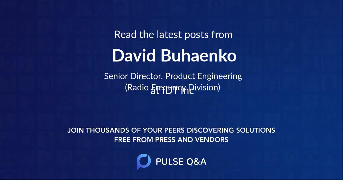 David Buhaenko