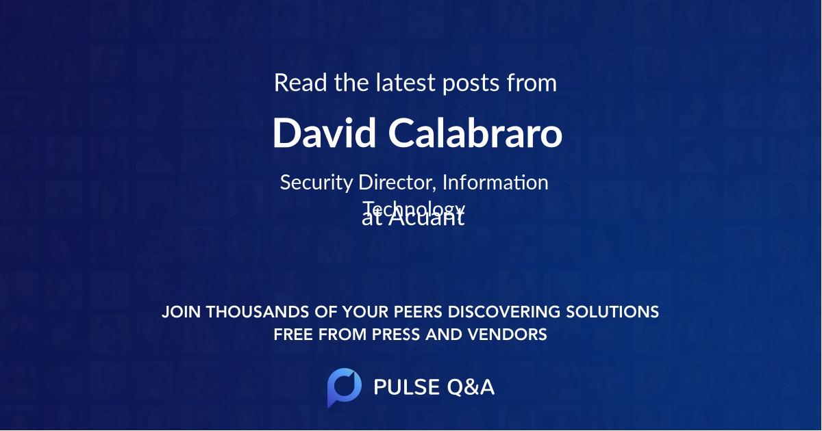 David Calabraro