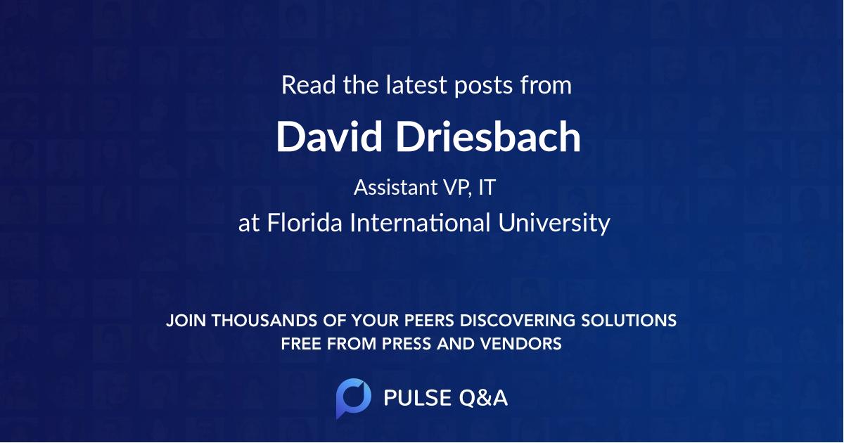 David Driesbach