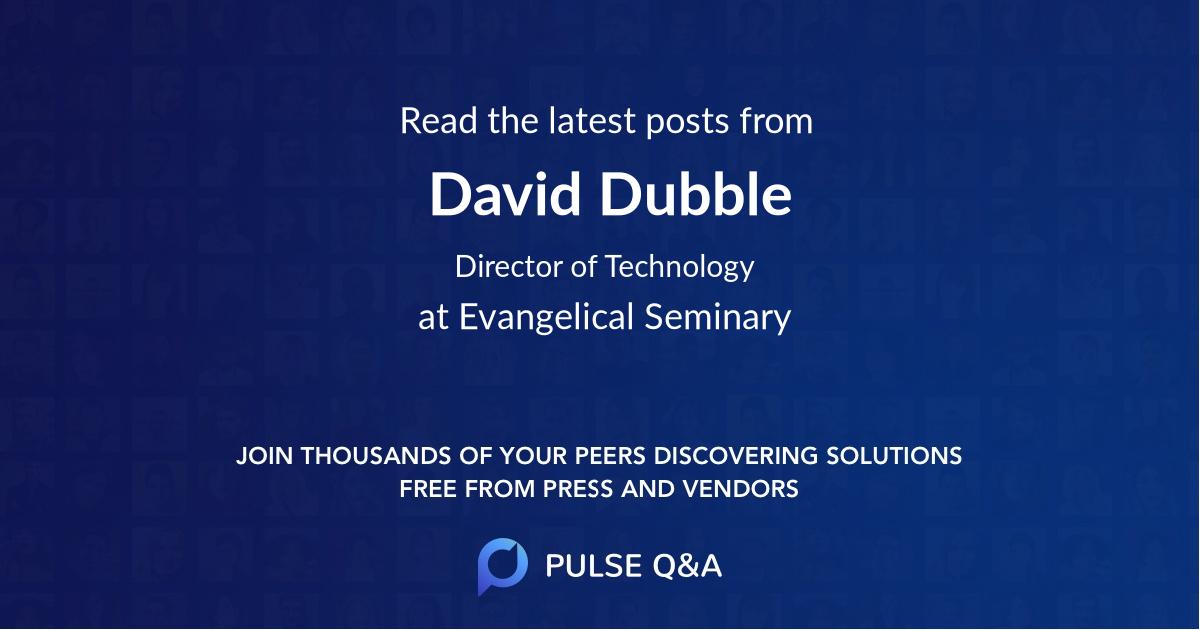 David Dubble