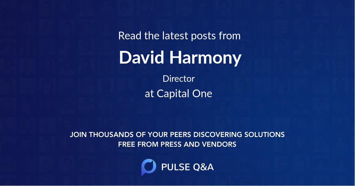 David Harmony