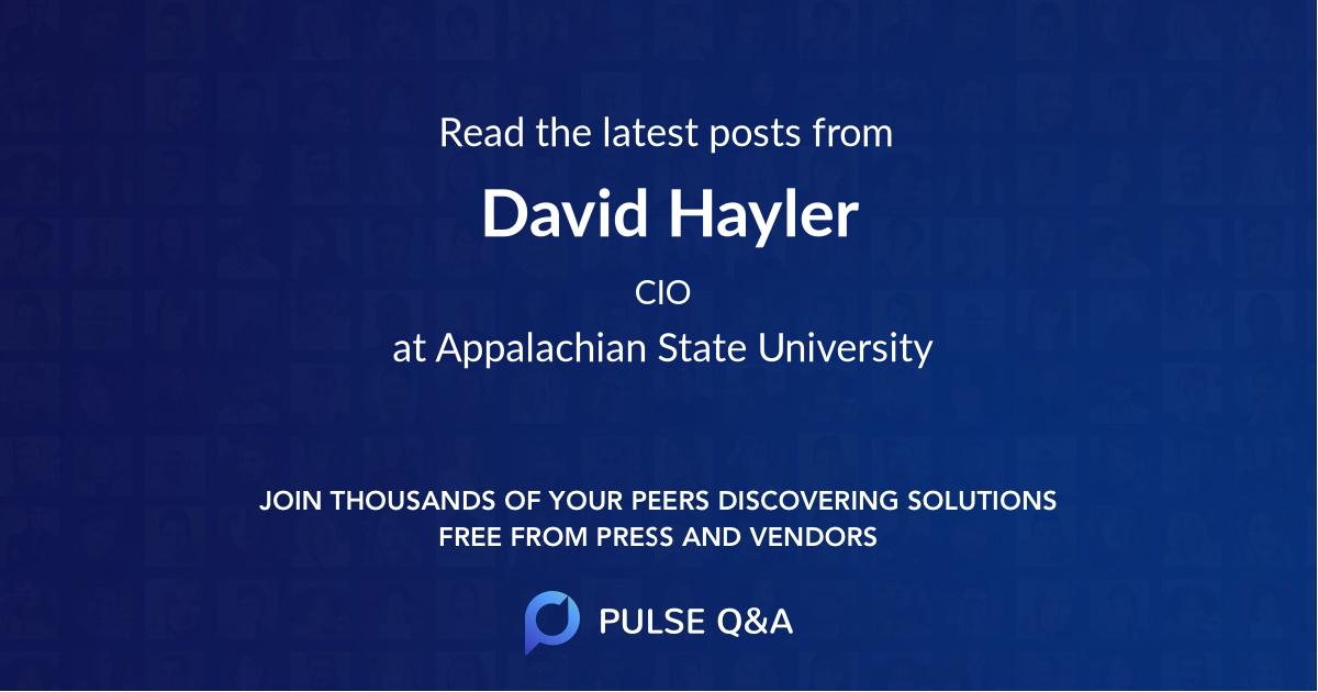 David Hayler