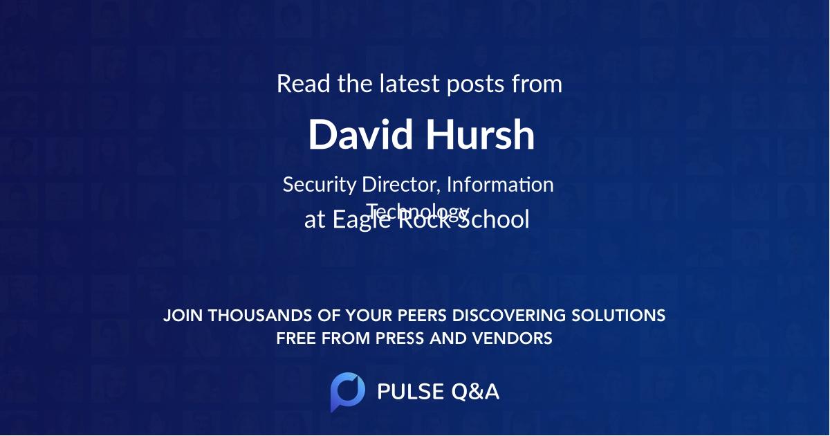 David Hursh