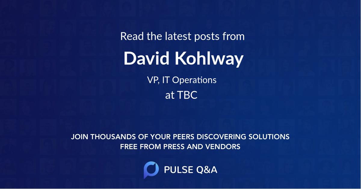David Kohlway