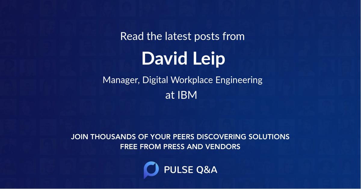 David Leip