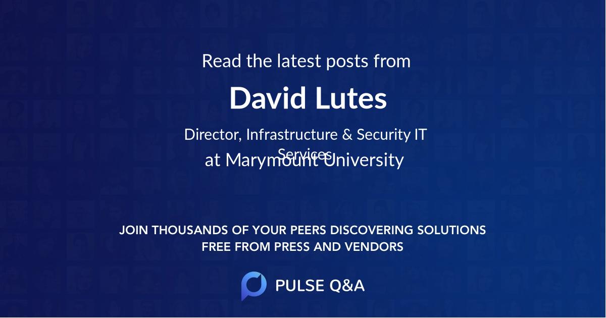 David Lutes