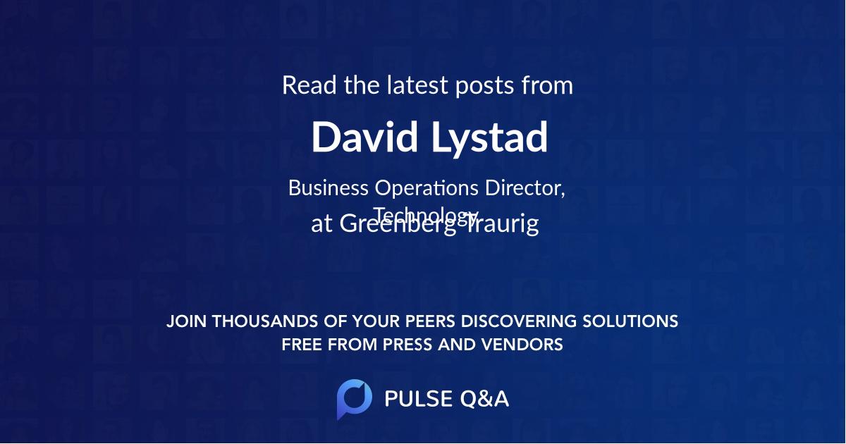 David Lystad