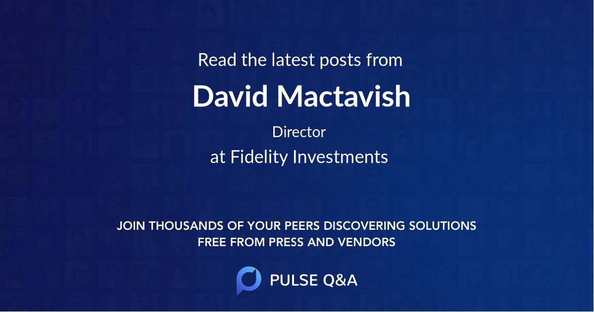 David Mactavish