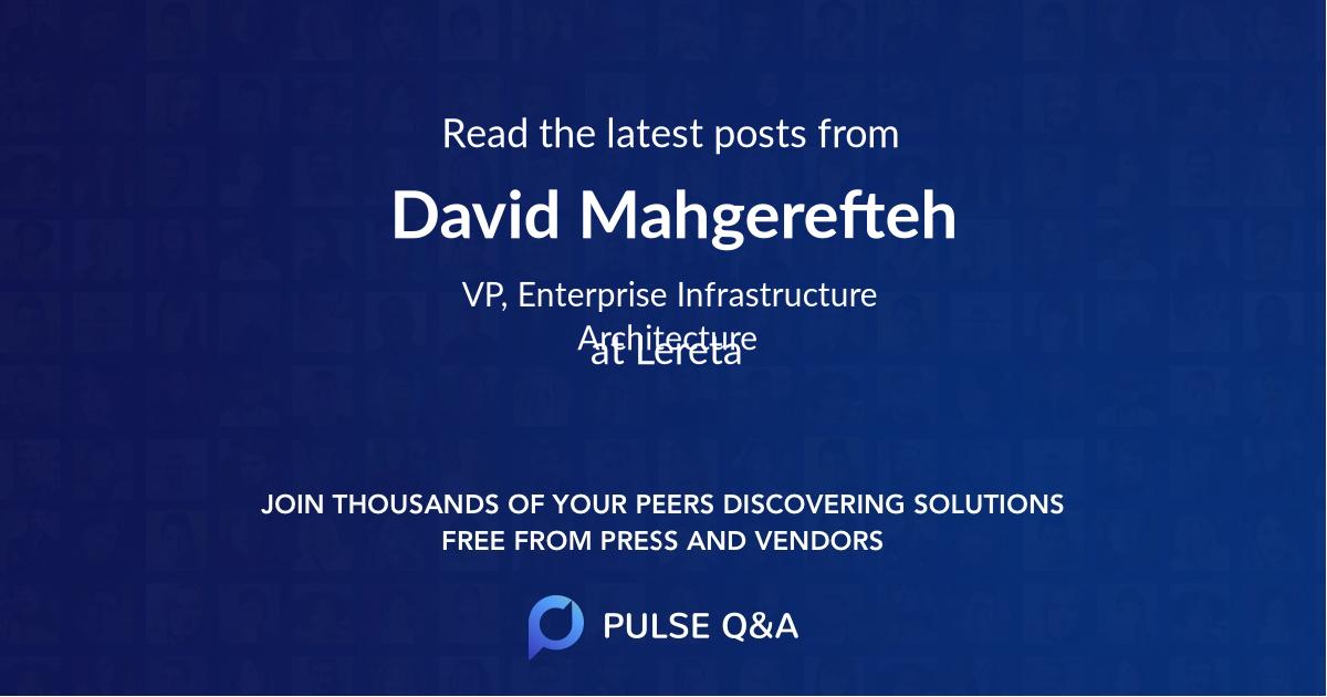 David Mahgerefteh