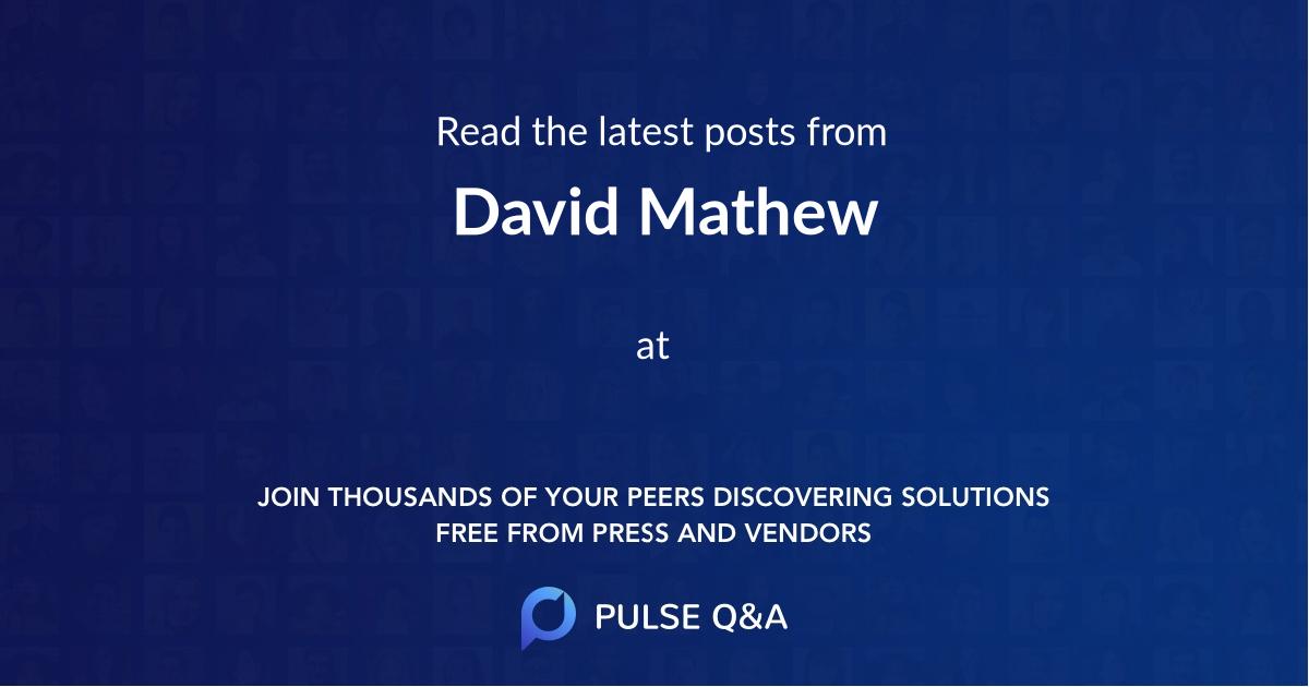 David Mathew