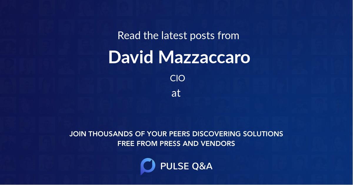 David Mazzaccaro
