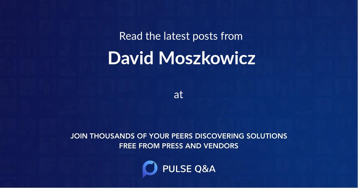 David Moszkowicz