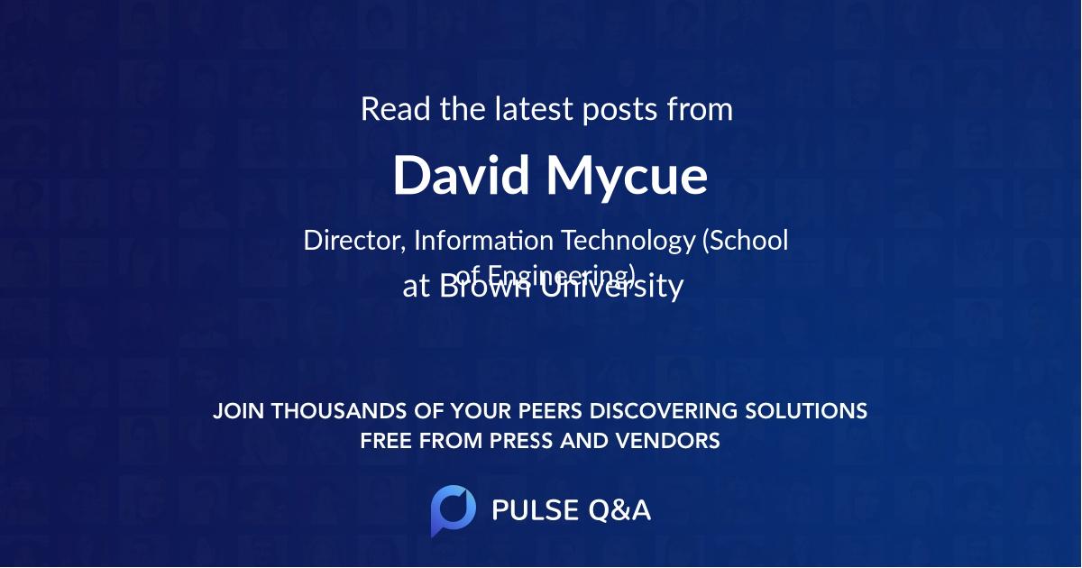 David Mycue