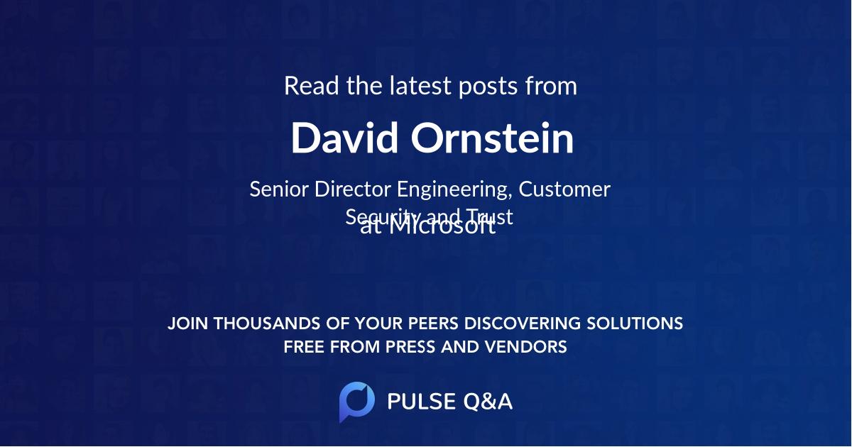 David Ornstein