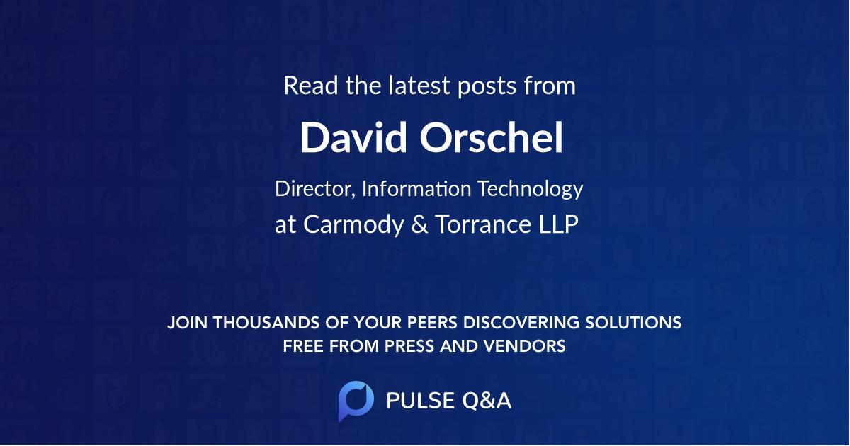 David Orschel