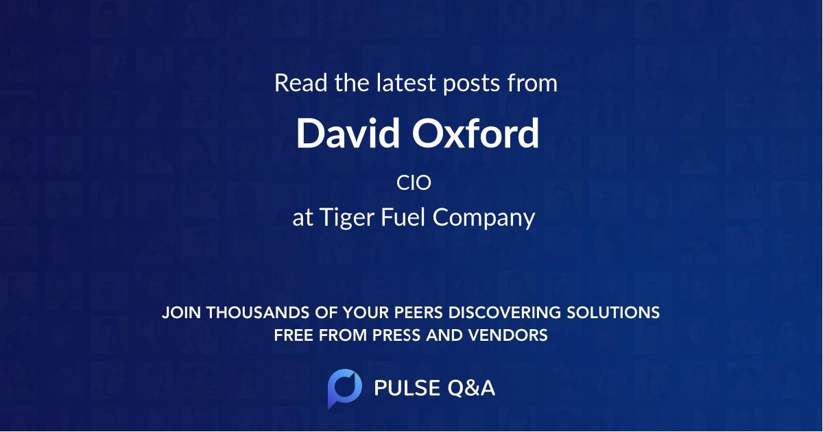David Oxford