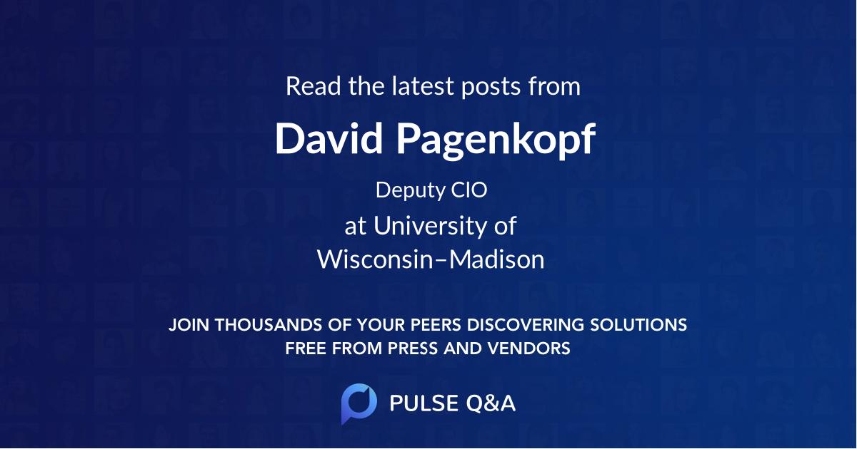 David Pagenkopf