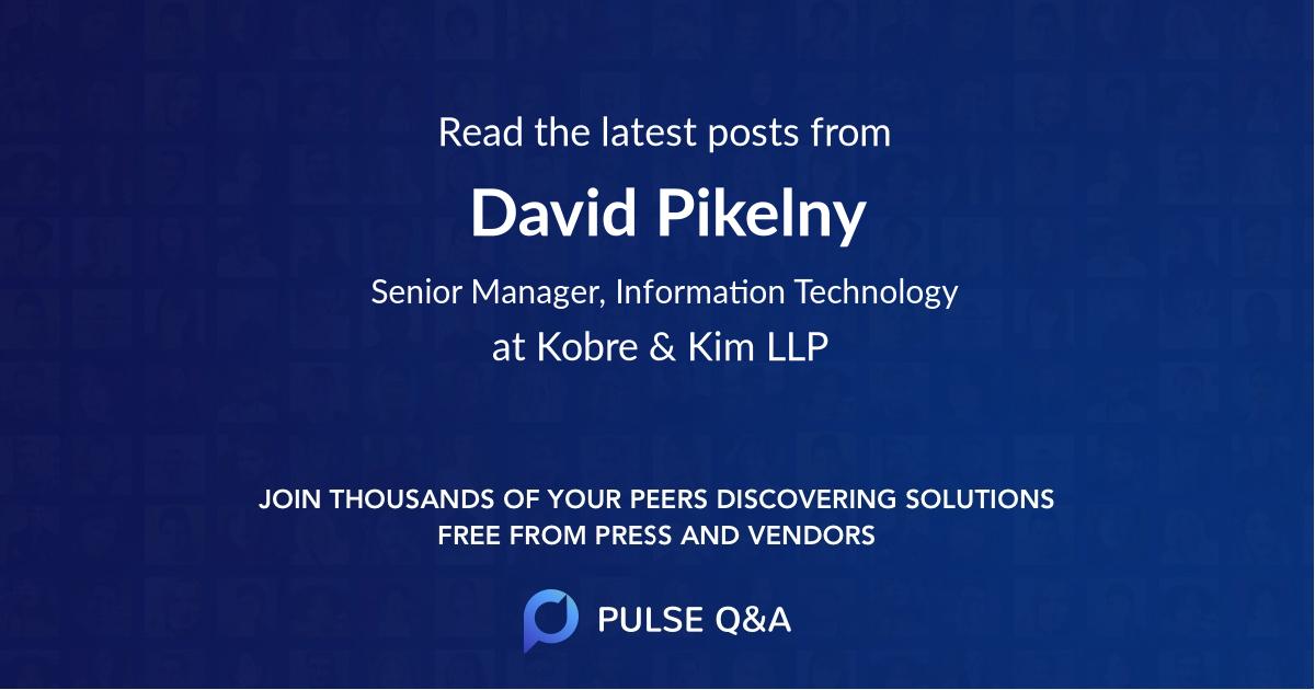 David Pikelny