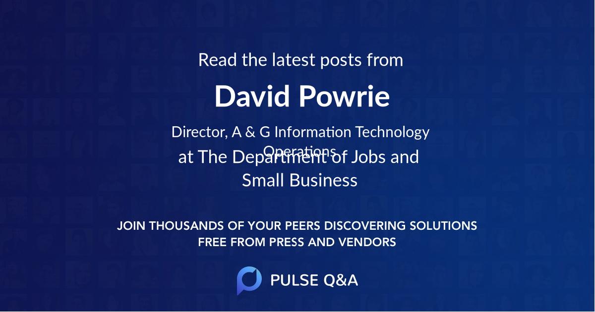 David Powrie