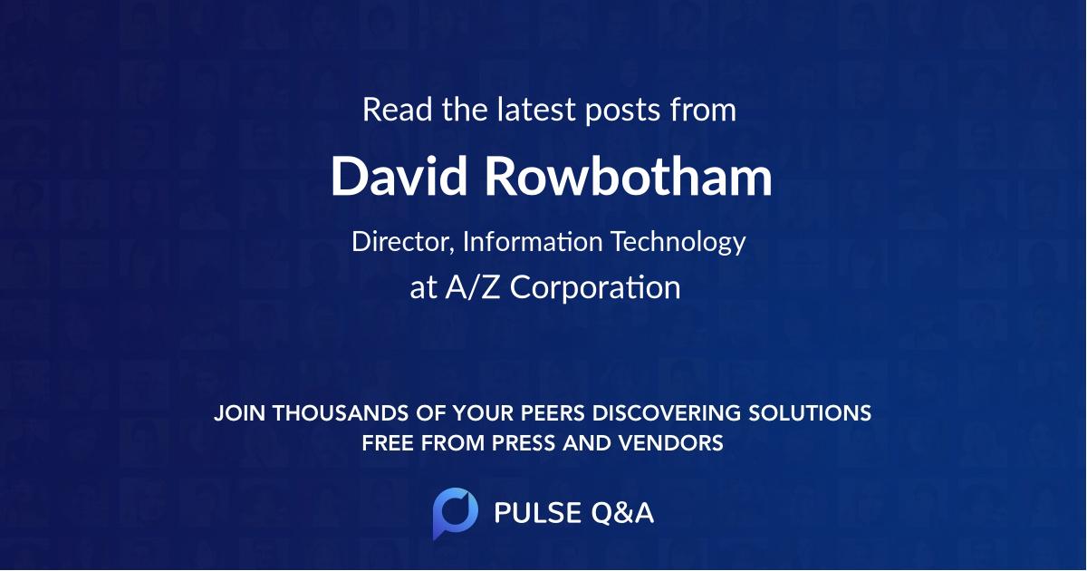 David Rowbotham