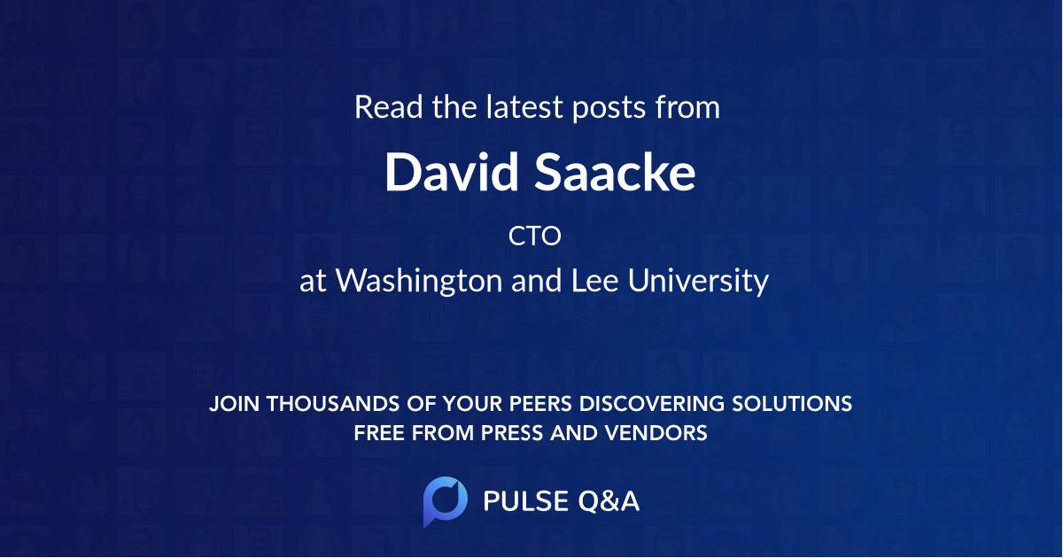 David Saacke