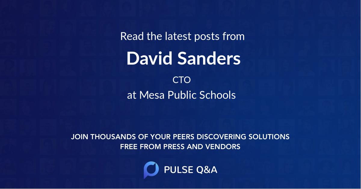 David Sanders