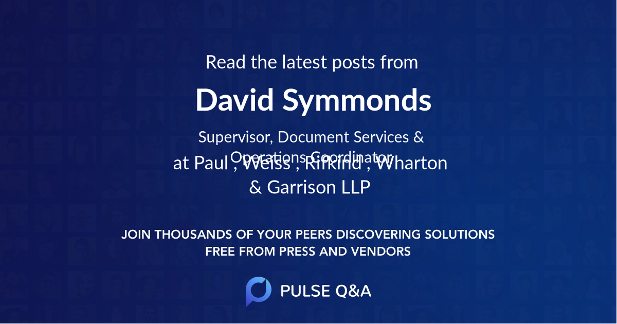 David Symmonds