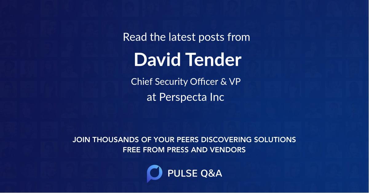 David Tender