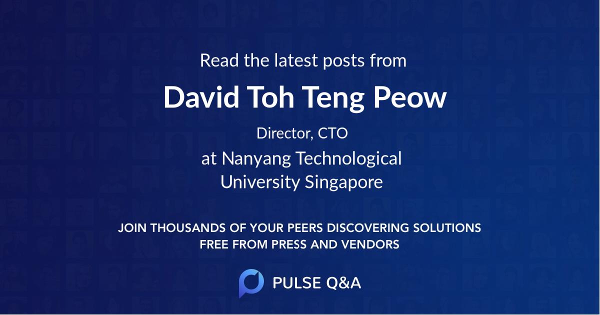 David Toh Teng Peow