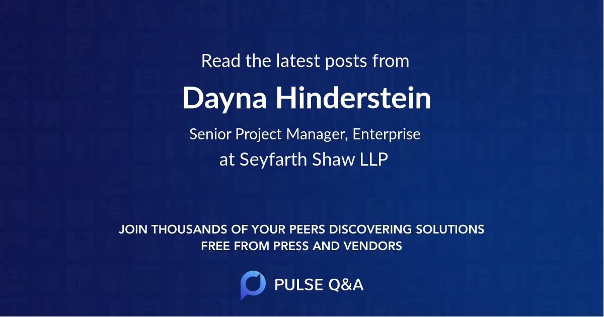 Dayna Hinderstein