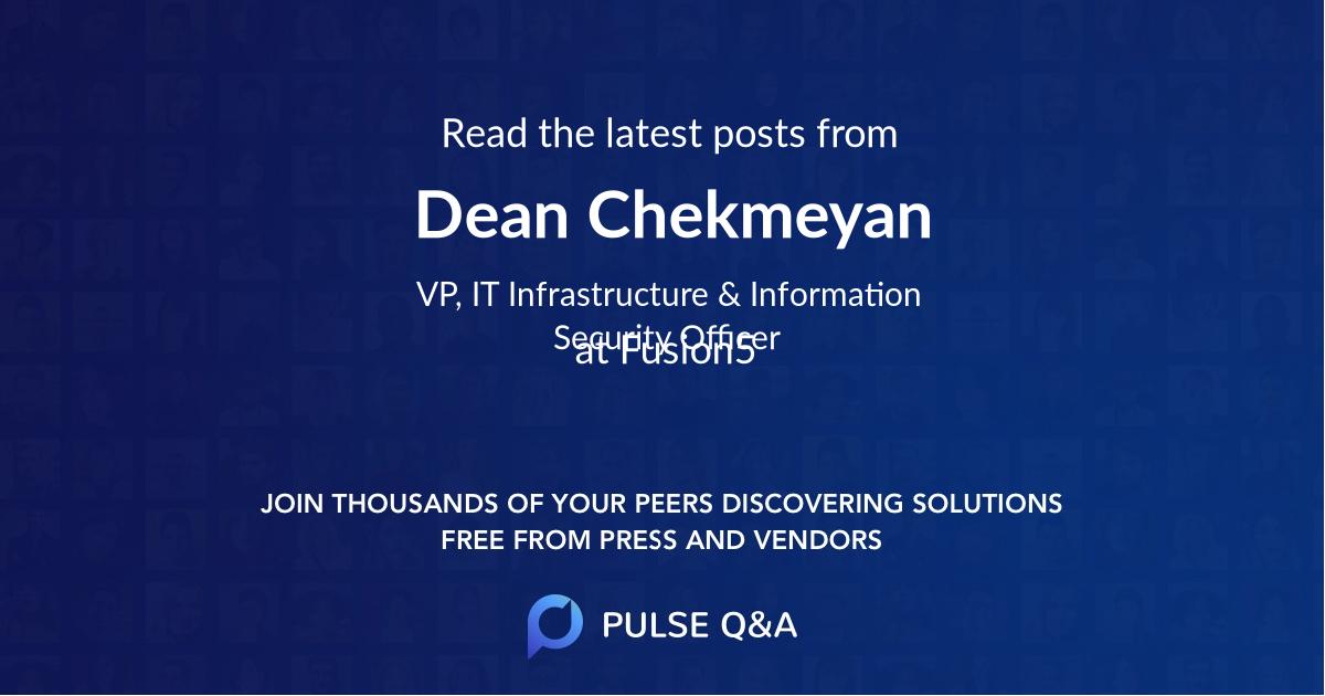 Dean Chekmeyan