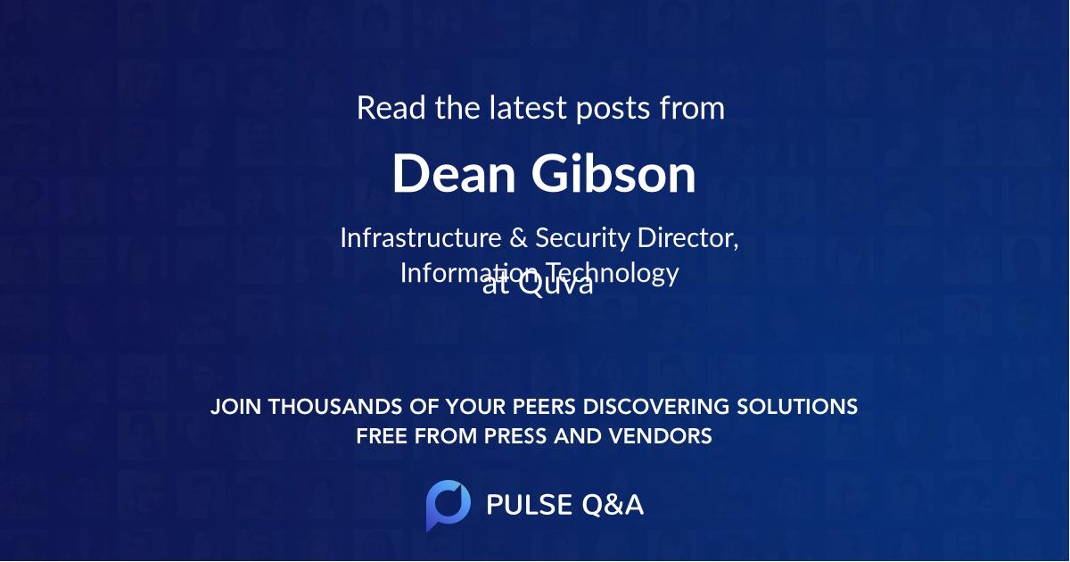 Dean Gibson