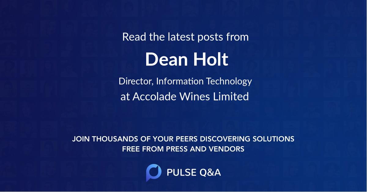 Dean Holt