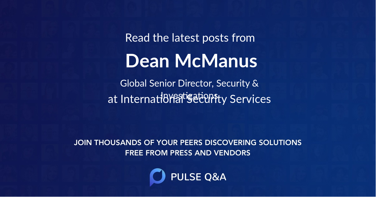 Dean McManus