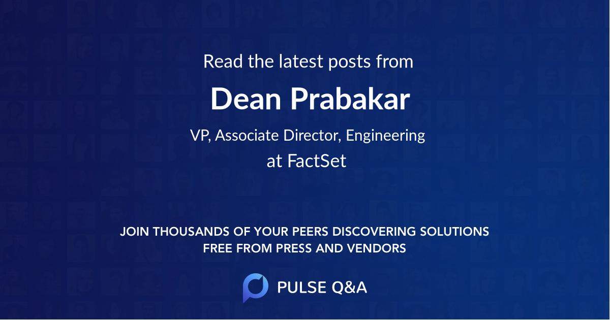 Dean Prabakar