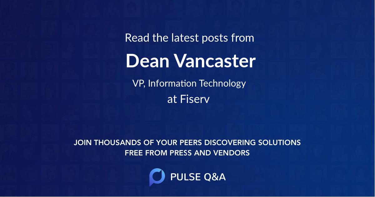 Dean Vancaster