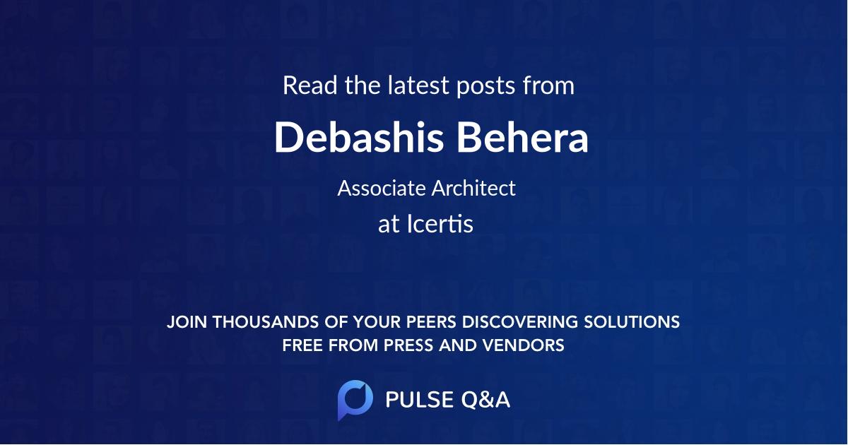 Debashis Behera