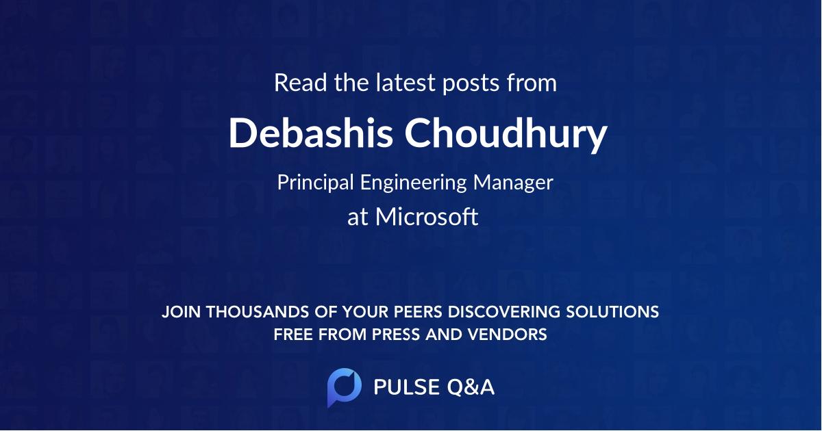 Debashis Choudhury