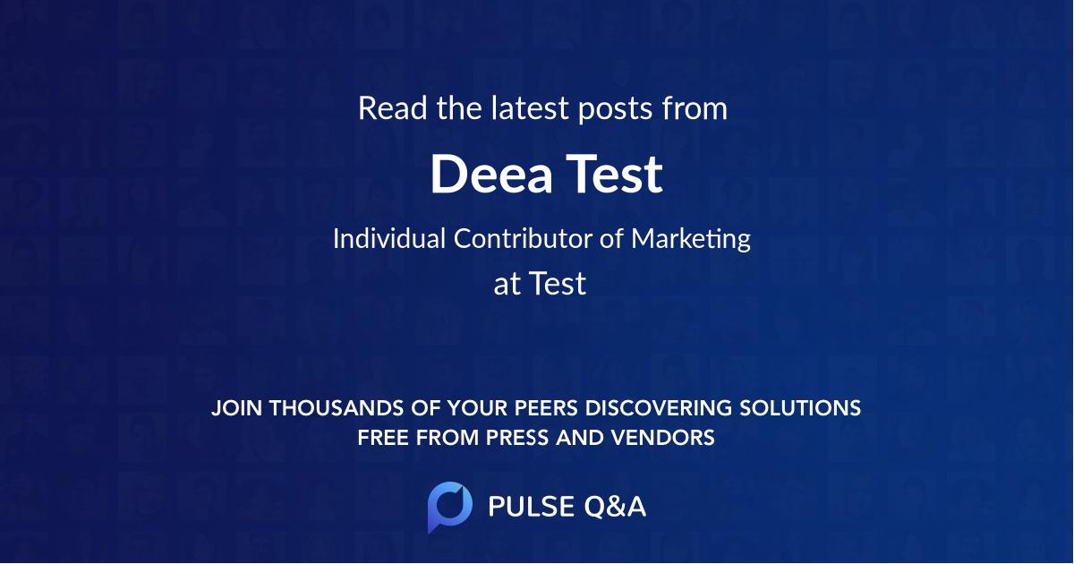Deea Test