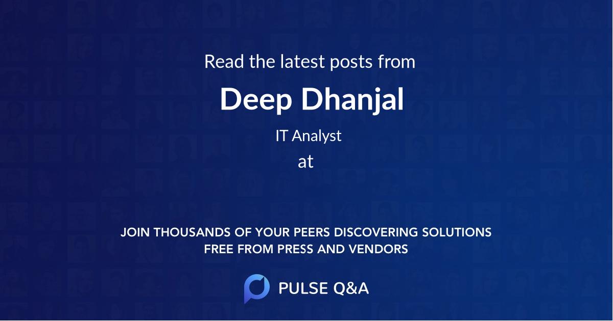 Deep Dhanjal