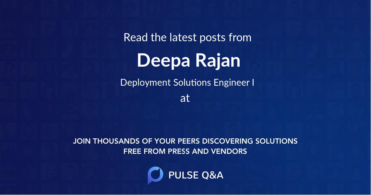 Deepa Rajan