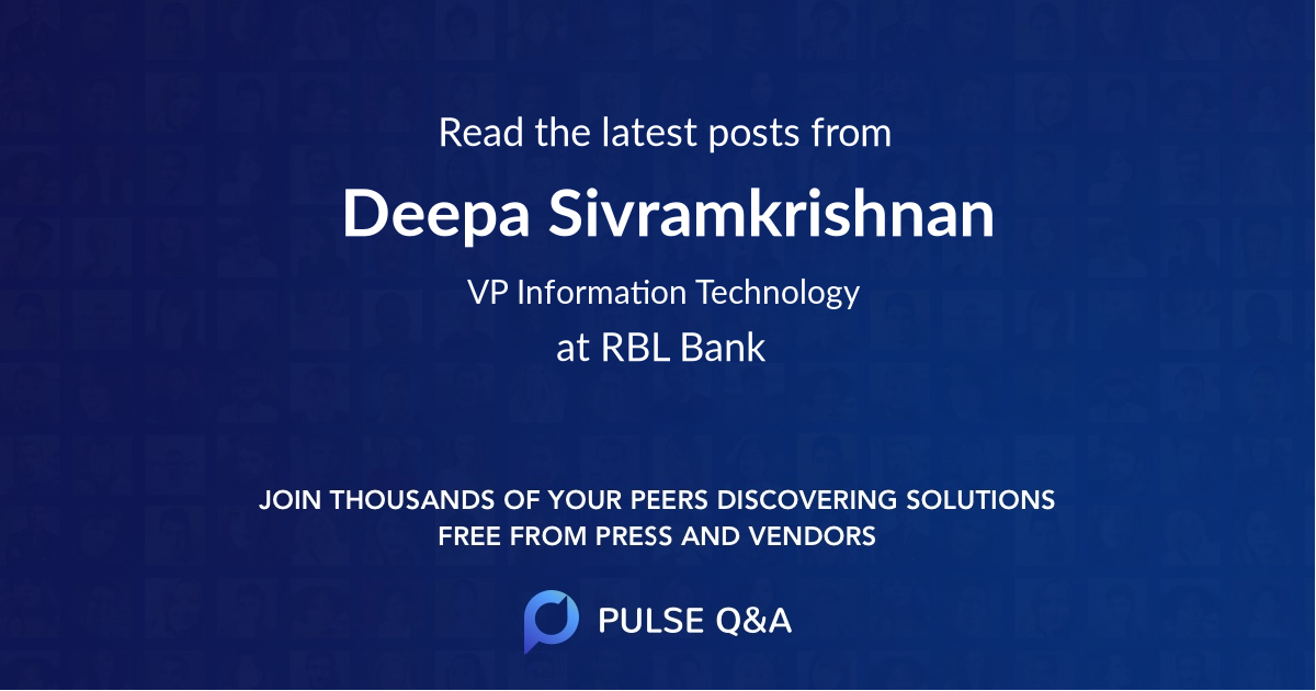 Deepa Sivramkrishnan