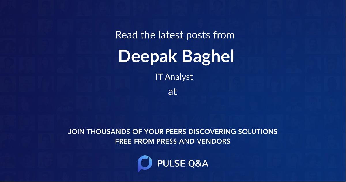 Deepak Baghel