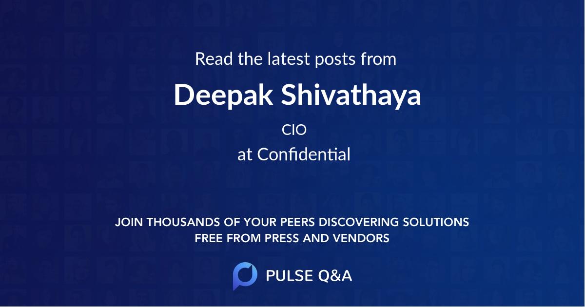 Deepak Shivathaya