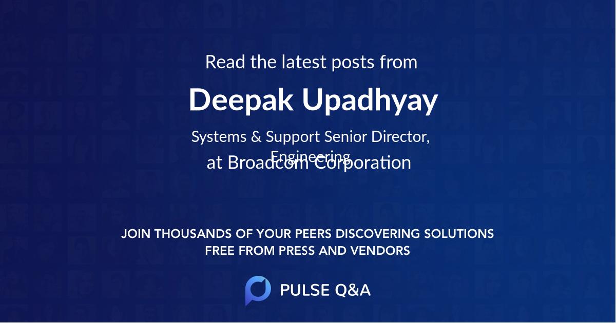 Deepak Upadhyay