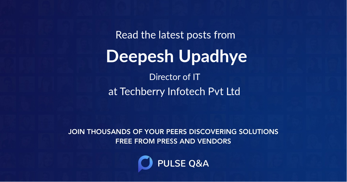 Deepesh Upadhye