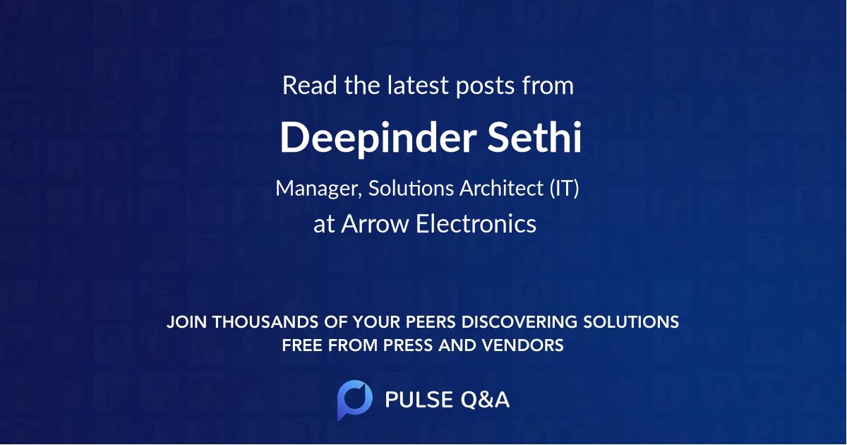 Deepinder Sethi