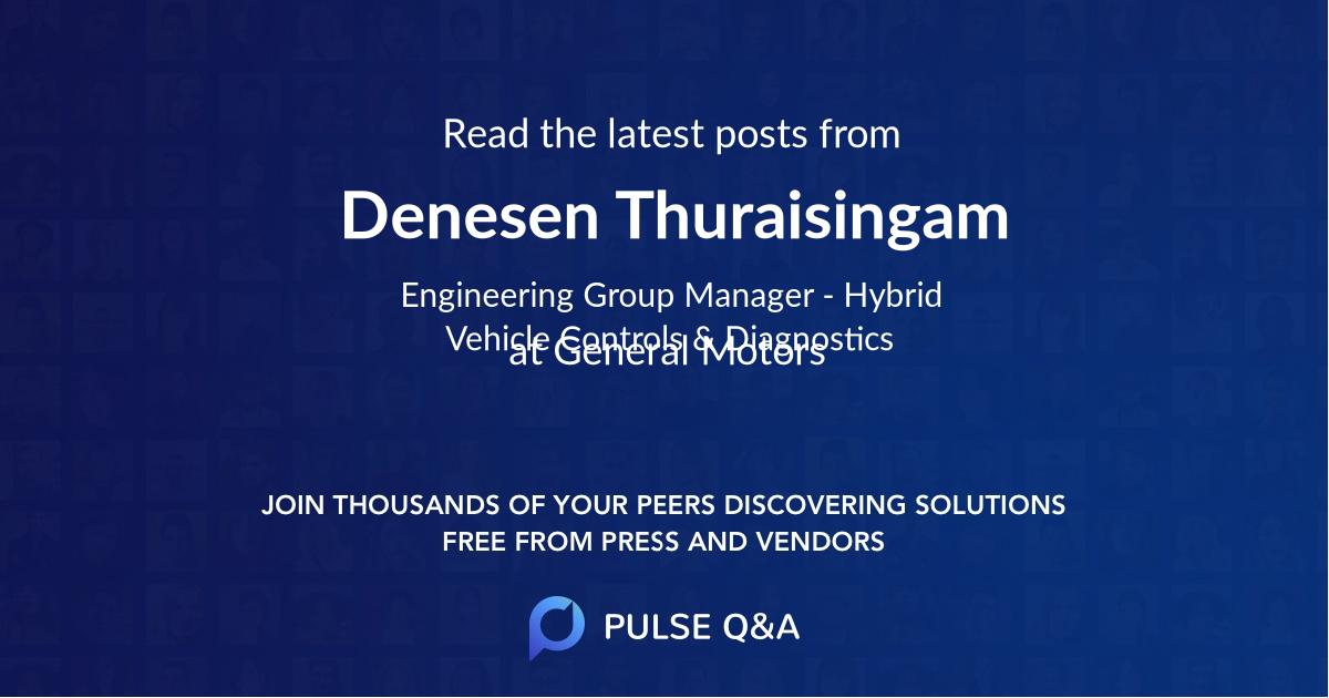 Denesen Thuraisingam