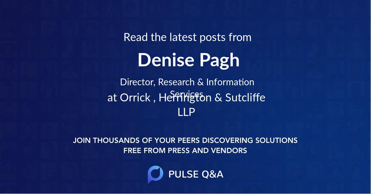Denise Pagh